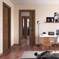Porta da interno battente Tussauds Cacao 80 x H 210 cm dx