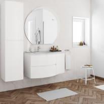 Mobile bagno Vague bianco L 104 cm