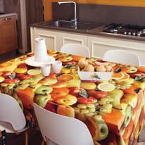Tovaglia plastificata Frutta multicolore 220 x 140 cm