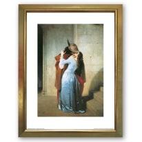 Stampa incorniciata Il bacio 35 x 45 cm