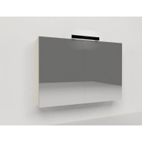 Specchio contenitore Key L 90 x H 62 x P  15 cm