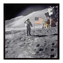 Stampa incorniciata Lunar 30 x 30 cm
