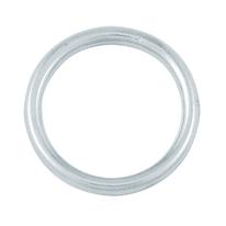 4 anelli tondi 4x25 mm in acciaio inox