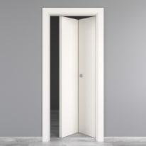 Porta da interno pieghevole Moma bianco 70 x H 210 cm dx