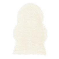 Tappeto Mongolia eco bianco 75 x 120 cm