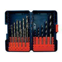 Set 17 punte per trapano per metallo, legno Dexter