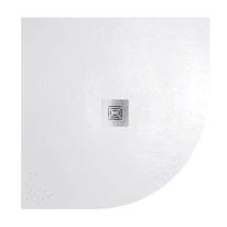 Piatto doccia resina Logic 80 x 80 cm bianco