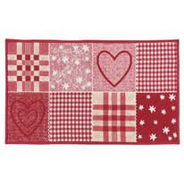 Tappetino cucina antiscivolo Master cuore rosso 50 x 130 cm