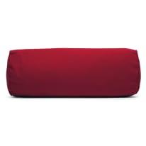 Cuscino Cilindrico rosso piping rosso 60 x 20 cm