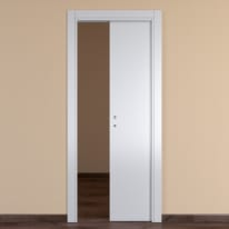 Porta da interno scorrevole One white bianco 70 x H 210 cm reversibile