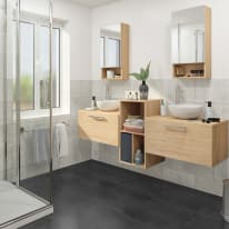 Mobile bagno Easy rovere L 70 cm