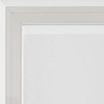 Tendina a vetro per portafinestra Penelope bianco e rosso 100 x 240 cm