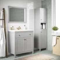 Mobile bagno Charm grigio L 80 cm