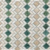 Mosaico Pergamena 32 x 30 cm verde, beige