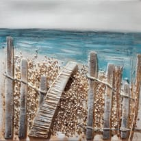 quadro dipinto a mano Mare1 30x30