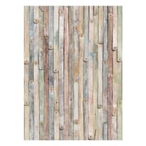 Fotomurale Vintage wood multicolor 184 x 254 cm