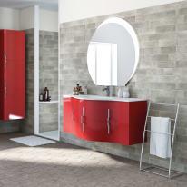Mobile bagno Sting rosso L 138 cm