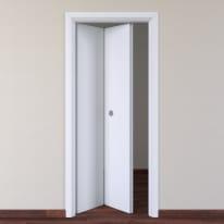 Porta da interno pieghevole Pearl bianco 70 x H 210 cm sx