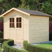 casetta in legno grezzo Bonn 5,15 m², spessore 28 mm