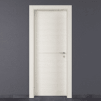 Porta da interno battente Hollow bianco matrix 90 x H 210 cm sx