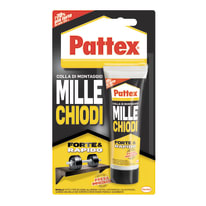 Colla di montaggio e fissaggio effetto chiodo Millechiodi Forte&Rapido Pattex bianco 100 g