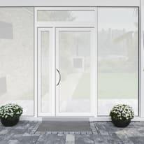 portoncino d'ingresso alluminio Condo17 bianco L 132 x H 250 dx