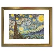 Stampa incorniciata V GOGH STARRY NIGHT 35 x 45 cm