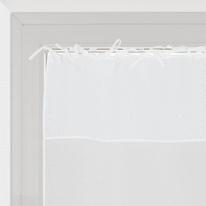 Tendina a vetro per portafinestra Nouettes bianco 90 x 210 cm