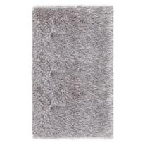 Tappeto Shaggy Enzo lurex argento 80 x 150 cm