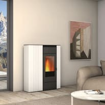 Termostufa a Pellet Superior Terry TH 10,4kw 13,2 kW bianco