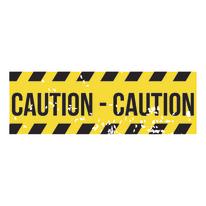 quadro su tela Caution 33x95