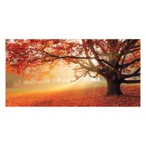quadro su tela Red forest 90x190