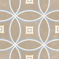 Piastrella Charming 20 x 20 cm beige, azzurro, marrone