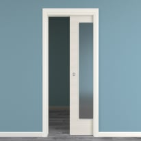 Porta da interno scorrevole Touch bianco matrix 80 x H 210 cm reversibile
