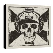 quadro su tela Skull 80x80