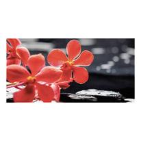 quadro su tela Red flower 50x100
