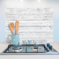 Sticker Kitchen Pannel Grey wood