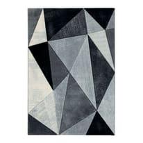 Tappeto Opera diamanti grigio scuro, nero, grigio 133 x 190 cm