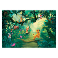 Fotomurale Lion king jungle multicolor 368 x 254 cm