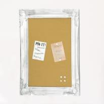 Bacheca di sughero England style bianco 40 x 55 cm