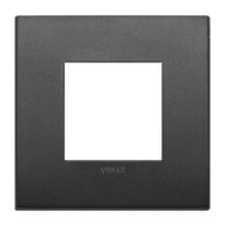 Placca 2 moduli Vimar Arké grafite matt