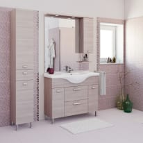 Mobile bagno Rimini larice L 105 cm