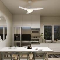 Ventilatore da soffitto con luce Aruba bianco