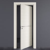 Porta da interno rototraslante Hollow bianco matrix 80 x H 210 cm dx