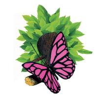 Applique Farfalla rosa