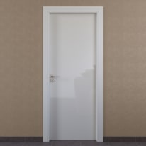 Porta da interno battente Massaua white bianco 60 x H 210 cm dx