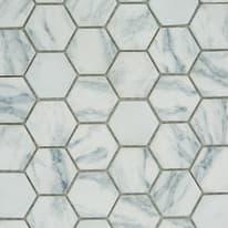 Mosaico Esagona 33 x 30 cm bianco, grigio