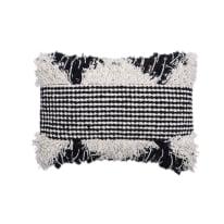 Cuscino Bengalore bianco e nero 30 x 50 cm