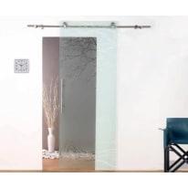 Porta da interno scorrevole Tokyo satinato 86 x H 220 cm dx