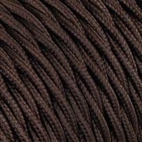 Cavo treccia tessile Merlotti 1,5 mm marrone, matassa 25 m